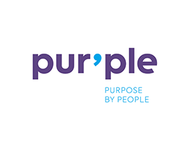 pur'ple I purpose by people